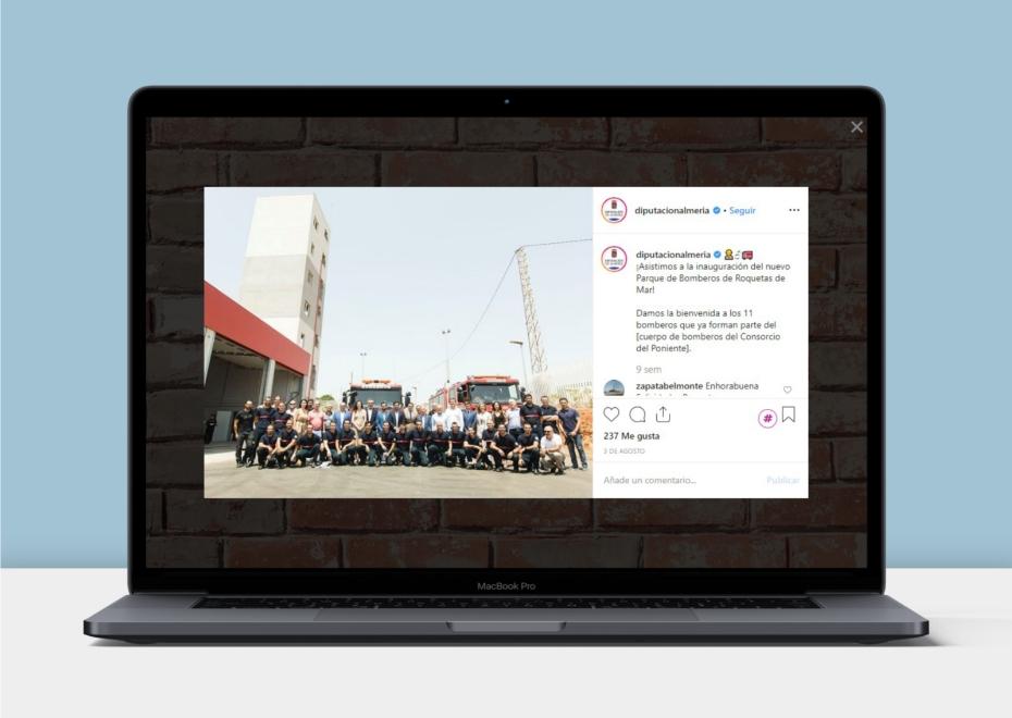 Twitter Administraciones Públicas Diputación de Almería - Taller Agencia