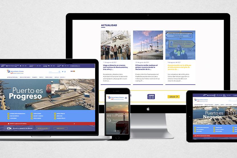 Nueva web del puerto de almería